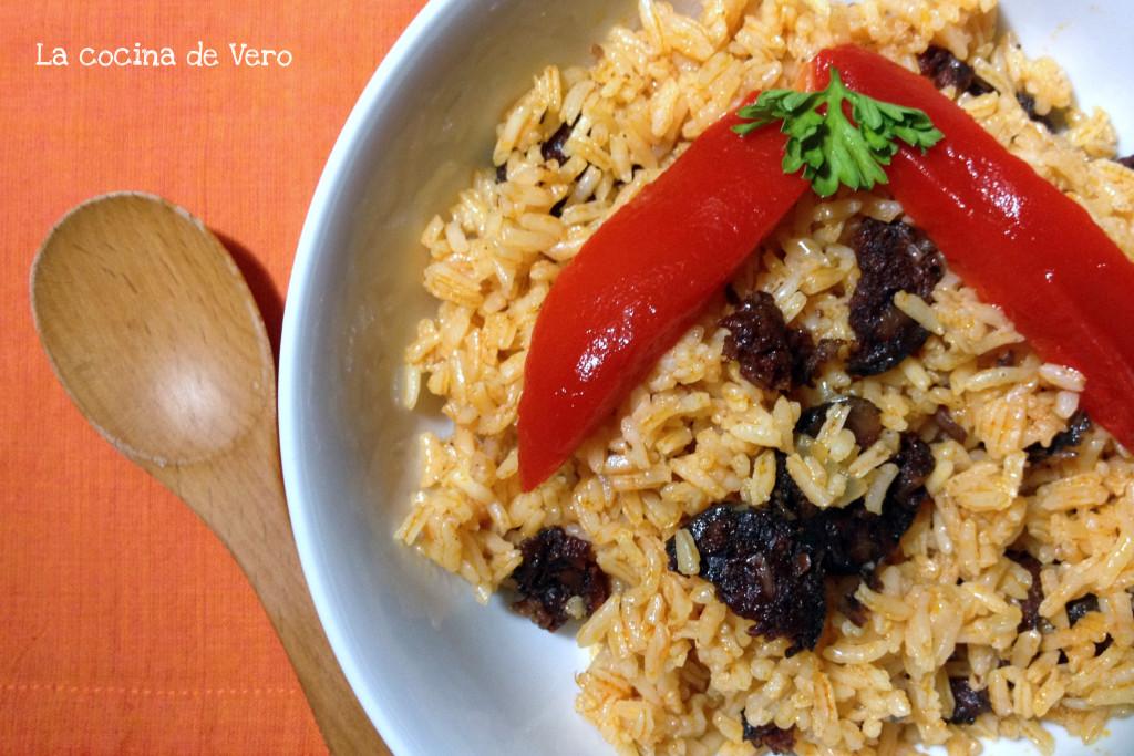 arroz con morcilla