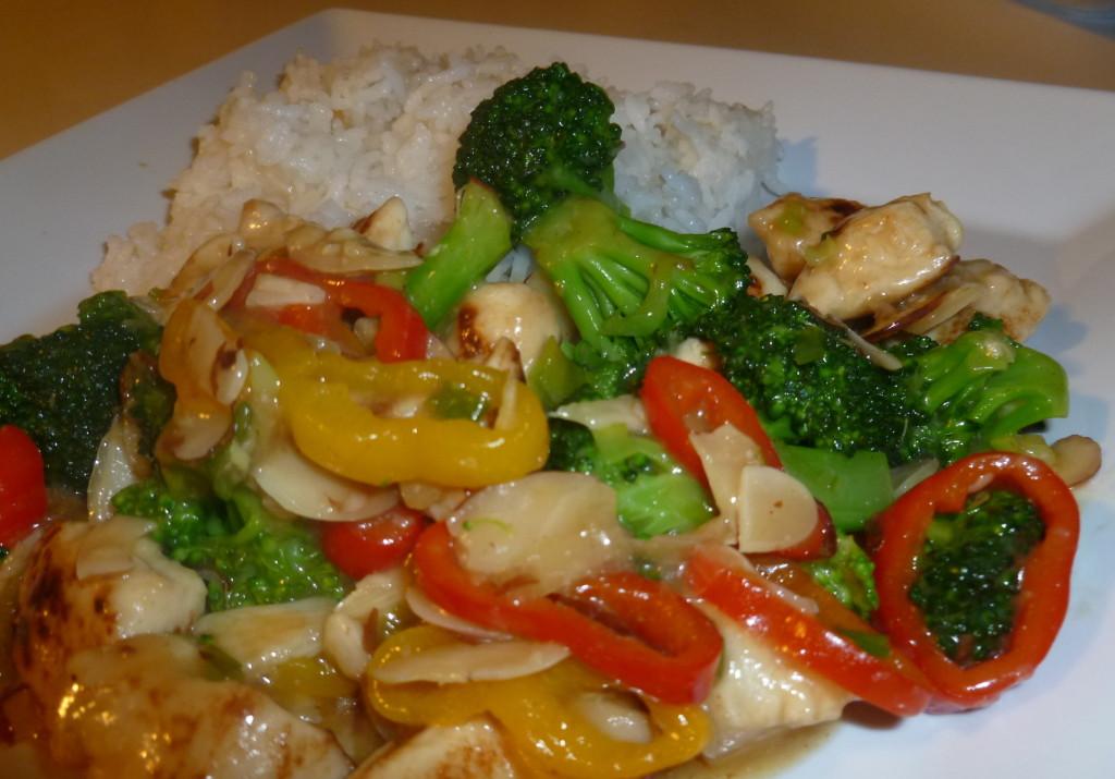 stir-fry de brocoli y pollo