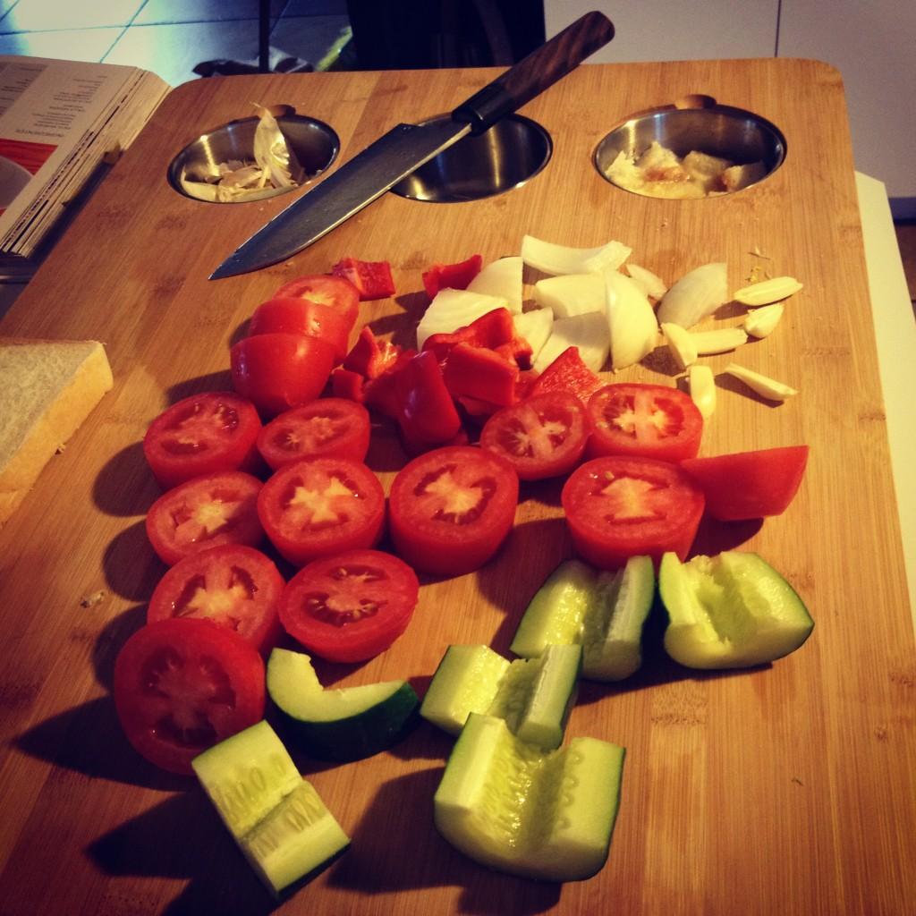 gazpacho - vegetales