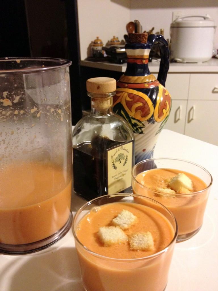 gazpacho y sus ingredientes