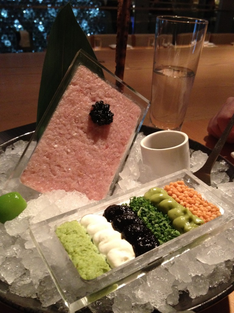 Hamachi tartare en Morimoto