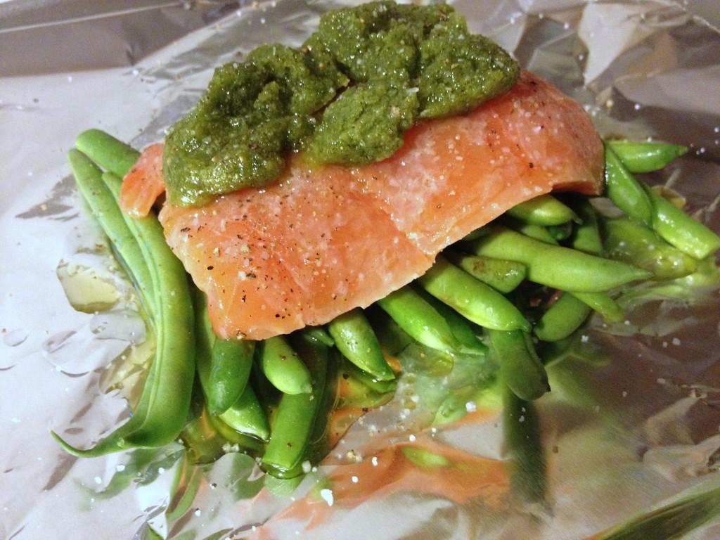 salmon al papillote - preparando-1