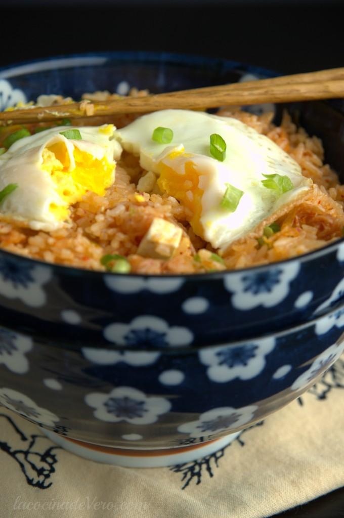 arroz frito con kimchi