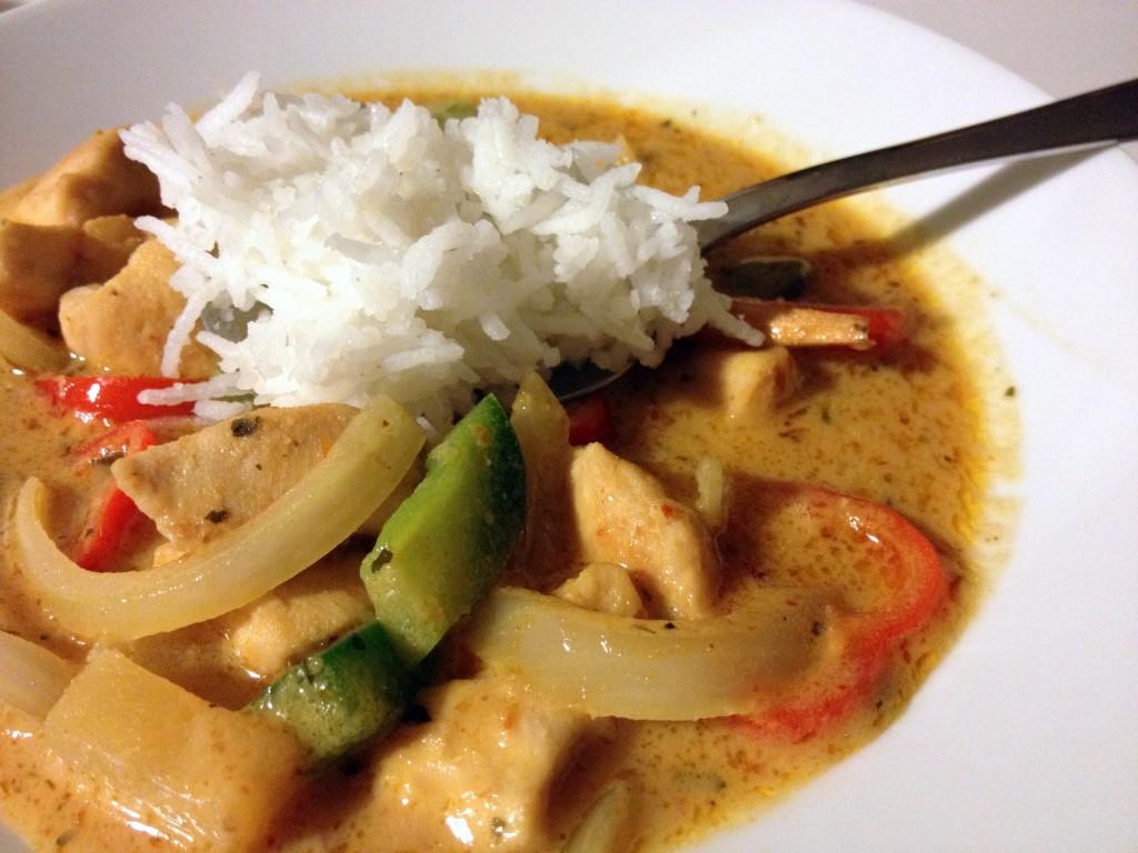 curry de pollo y basmati
