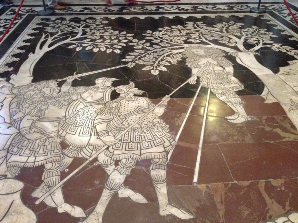 suelo del duomo de Siena