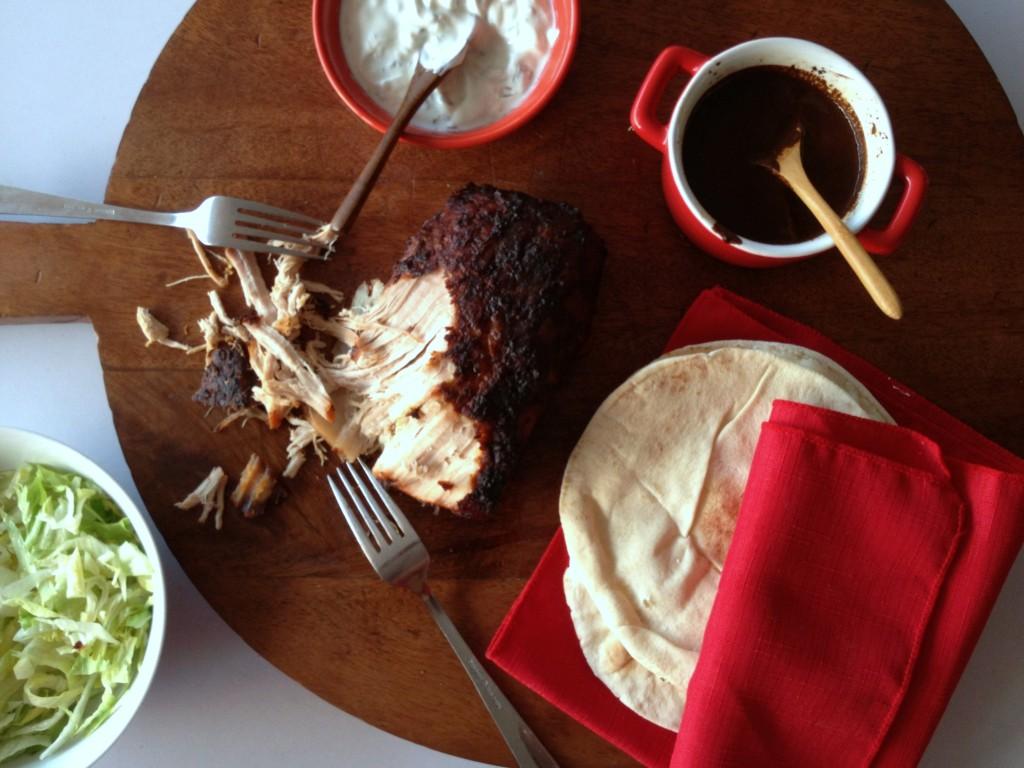 cerdo asado con harisa