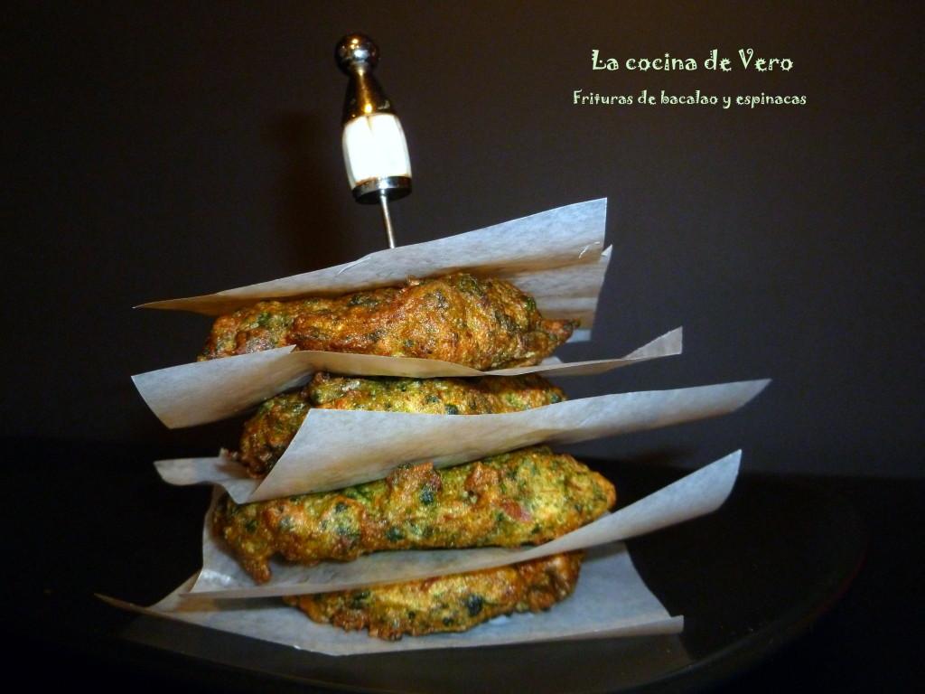 frituras de bacalao y espinacas