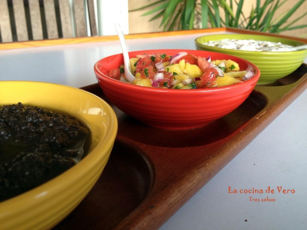 tres salsas
