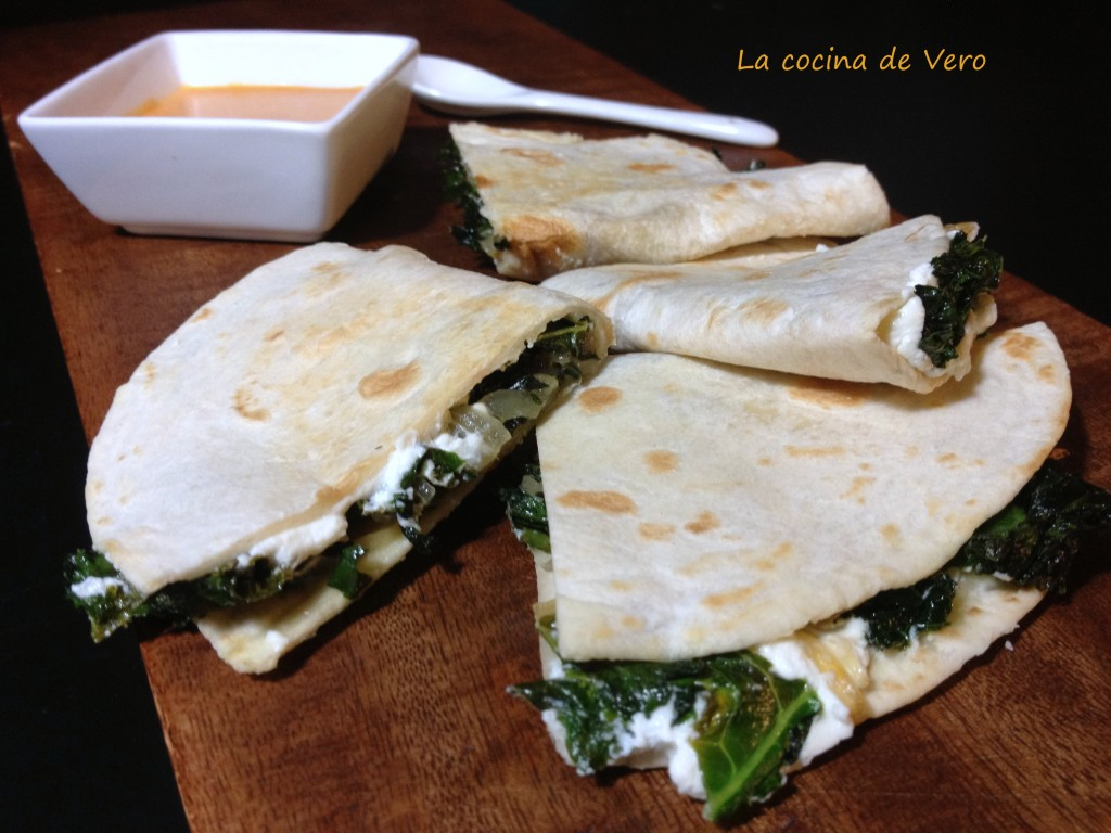 quesadillas con kale