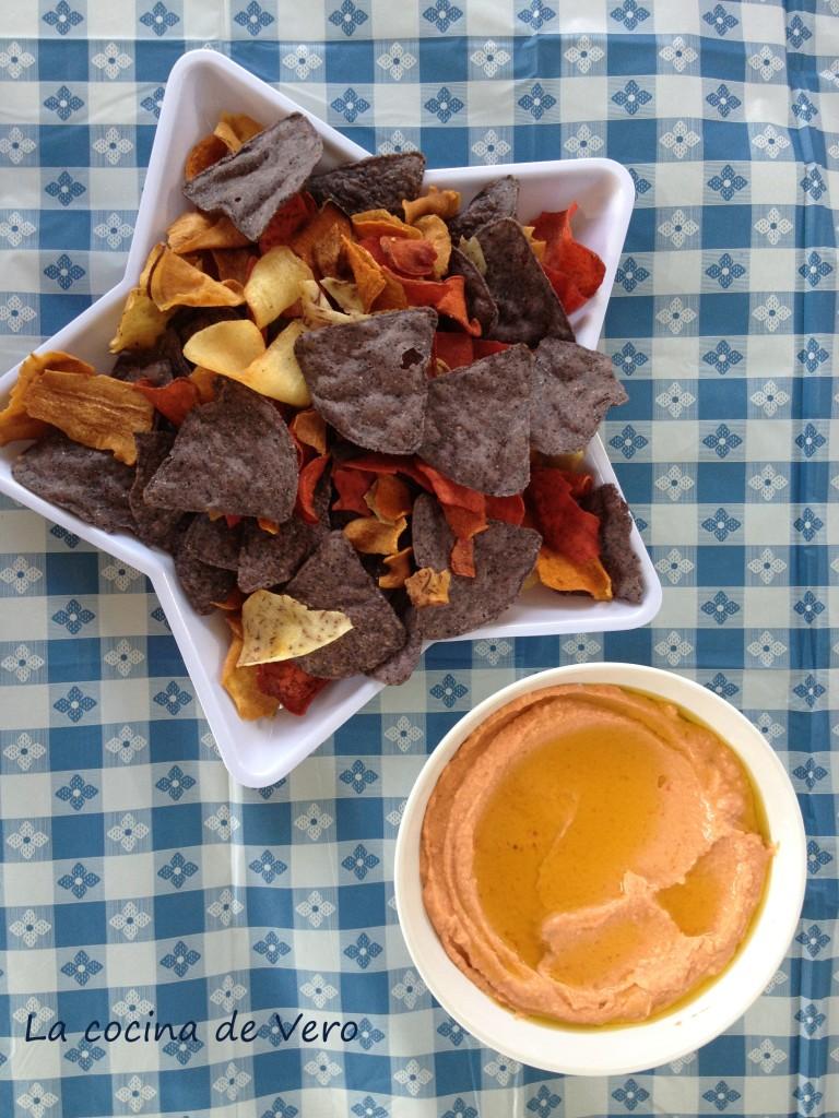 humus y chips para el 4 de julio