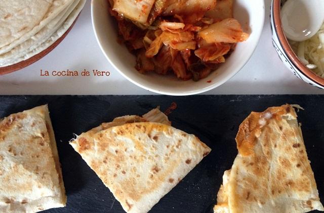 Quesadillas con kimchi