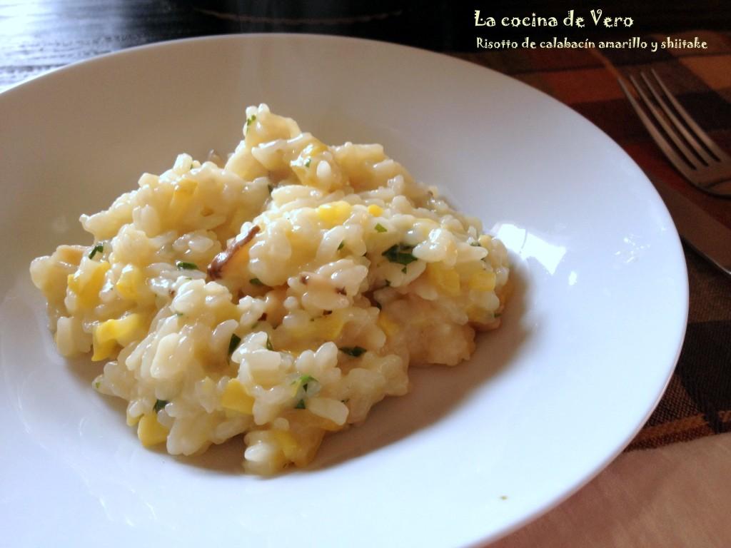 La cocina de Vero Risotto de calabacin amarillo y shiitake