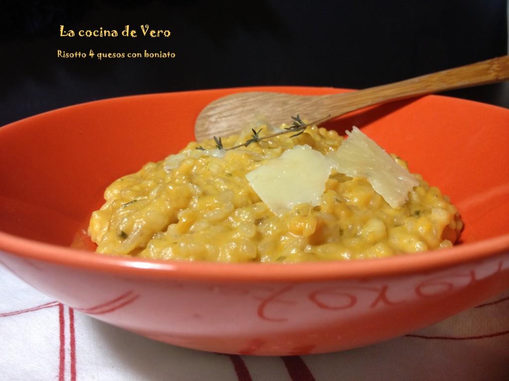 Risotto 4 quesos con boniato_La Cocina de Vero