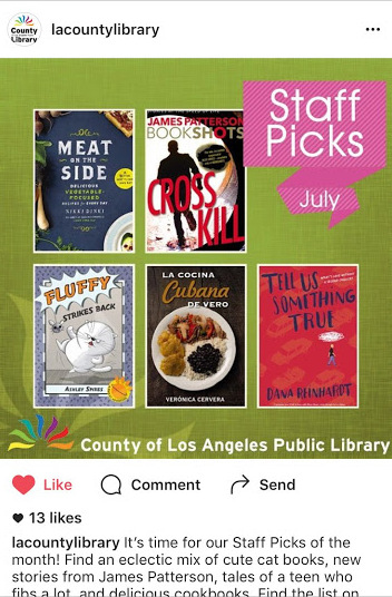 Los Angeles Public Library Staff Picks July 2016