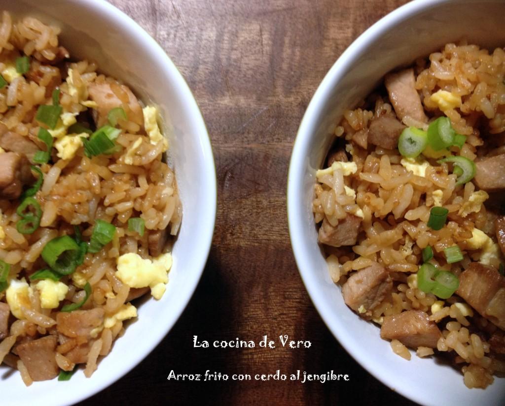 arroz frito con cerdo - la cocina de vero