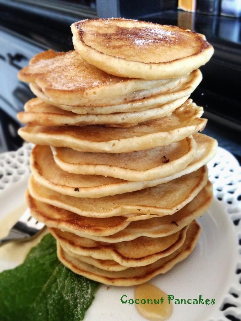 Coconut pancakes - La cocina de Vero