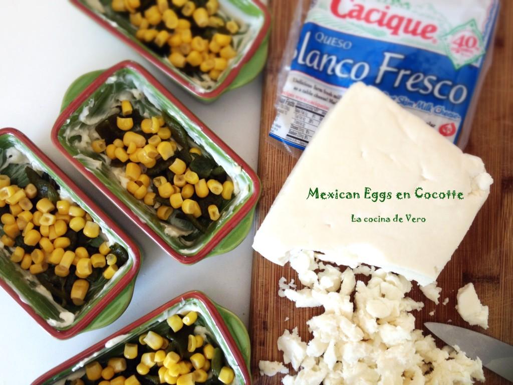 Mexican Eggs en Cocotte - La cocina de Vero #AuténticoCheeseSociety #CheeseSociety #ad