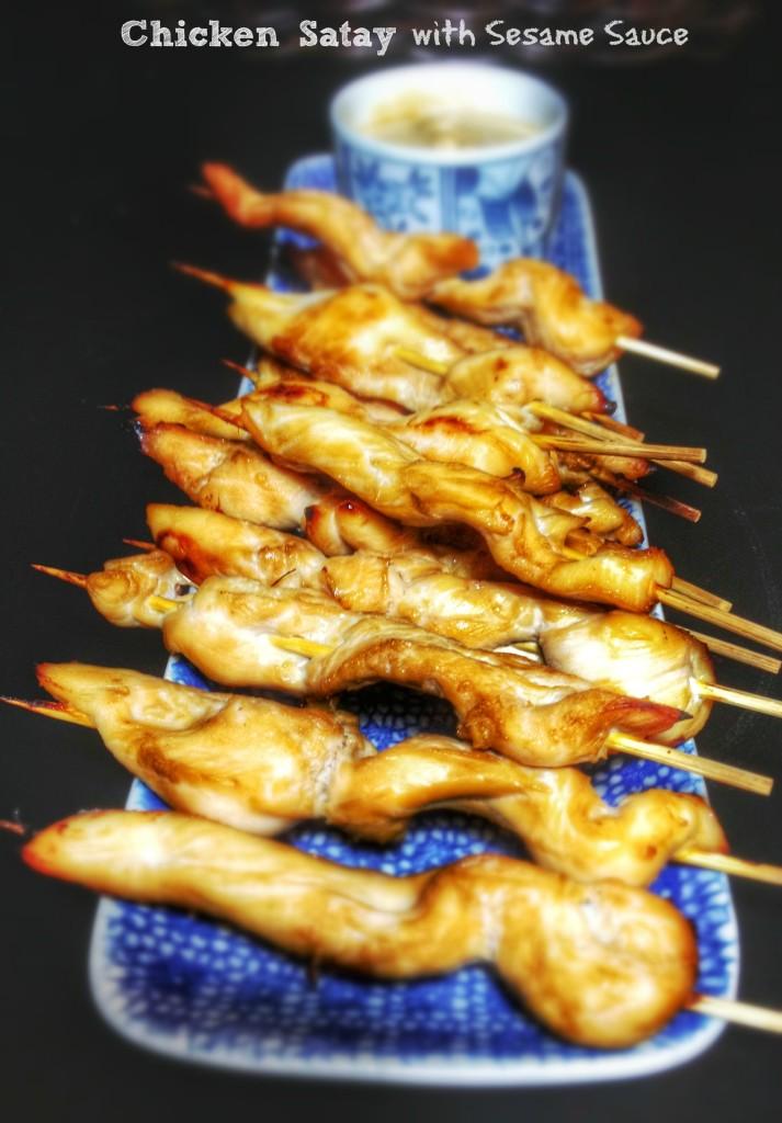Chicken Satay with Sesame Sauce - La cocina de Vero