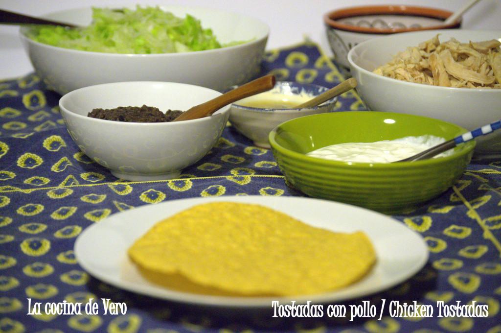 Chicken Tostadas - Tostadas con pollo - La cocina de Vero