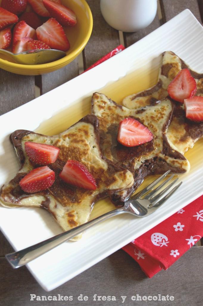 Pancakes de fresa y chocolate - La cocina de Vero