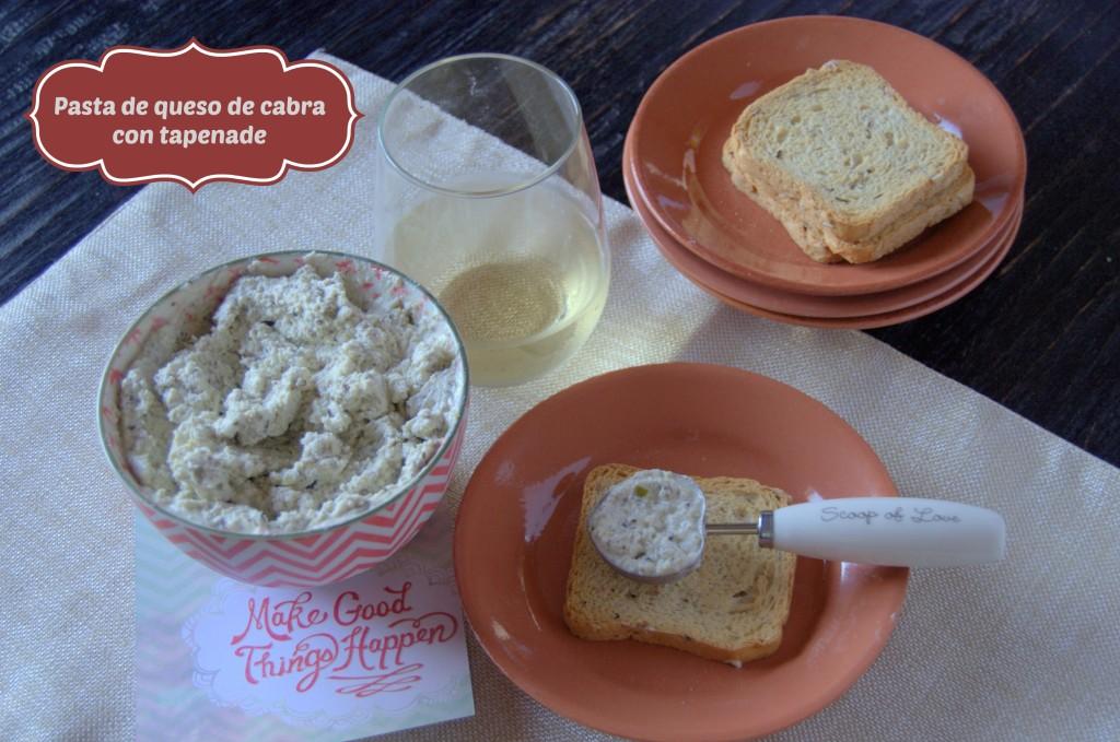 Pasta de queso de cabra con tapenade - La cocina de Vero
