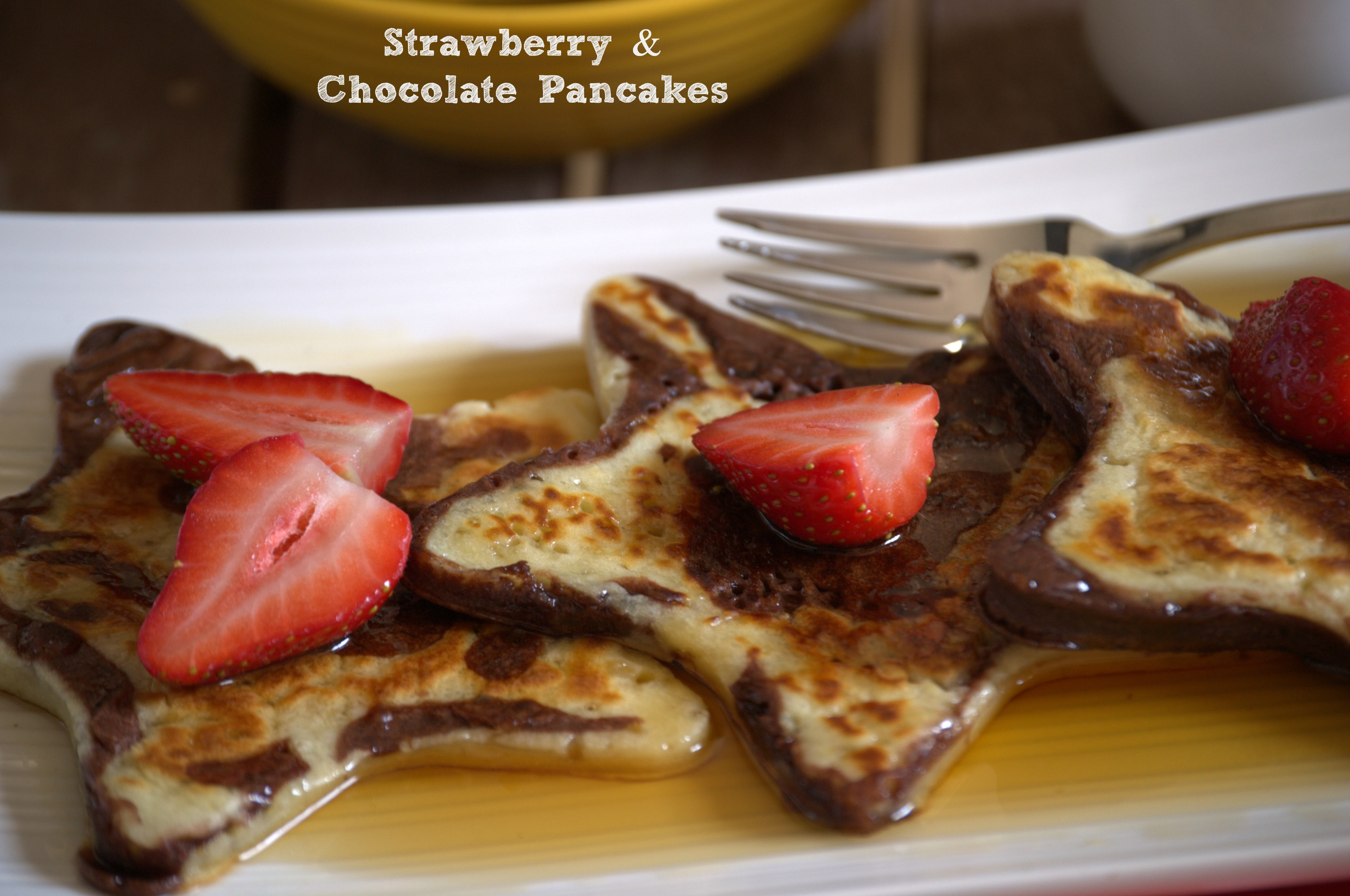 Pancakes de fresa y chocolate - Strawberry and chocolate