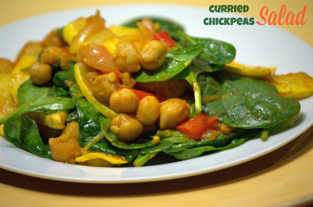 Curried Chickpeas Salad