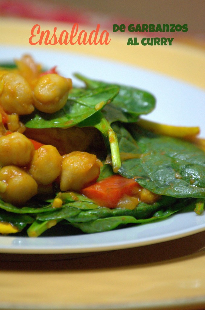 Ensalada de garbanzos al curry