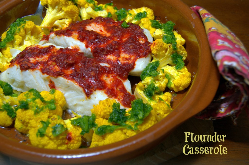 Flounder Casserole - Ready in less than a half an hour, superhealthy and delicious.