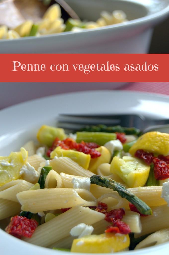Penne con vegetales asados, una receta vegetariana lista en media hora