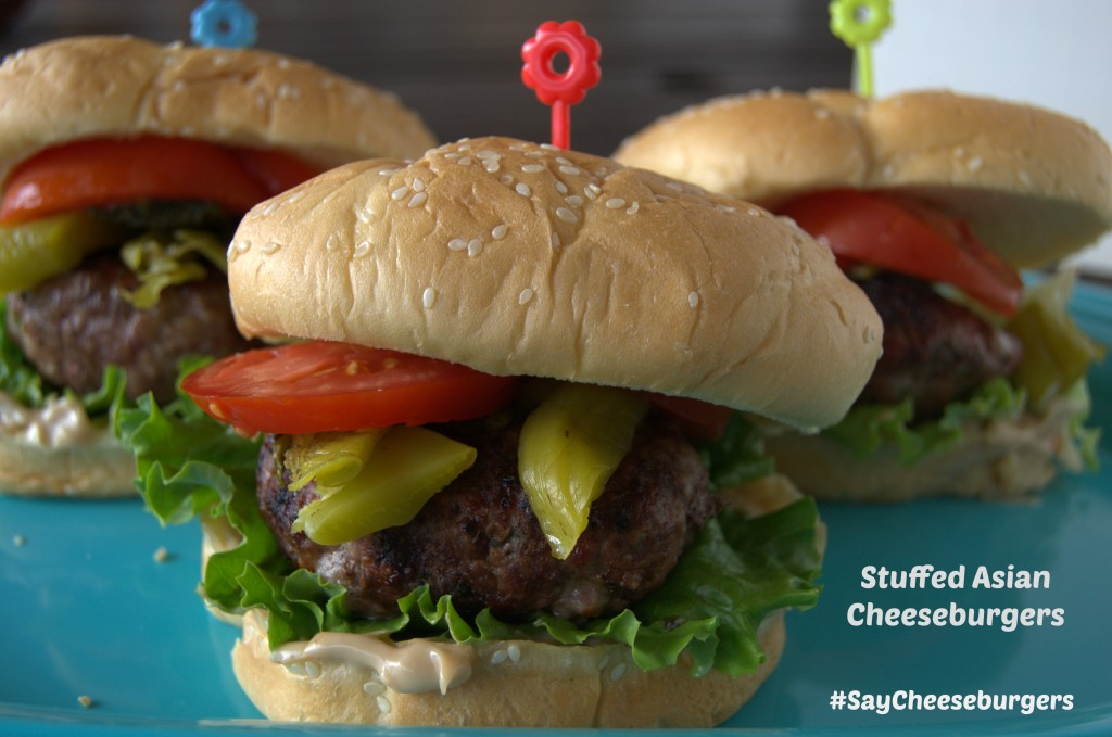 Stuffed Asian Cheeburgers #sayCheeseburgers #Shop