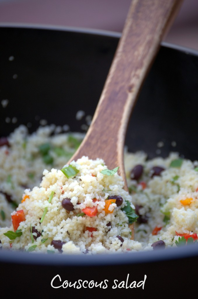 Healthy couscous salad for the summer time.