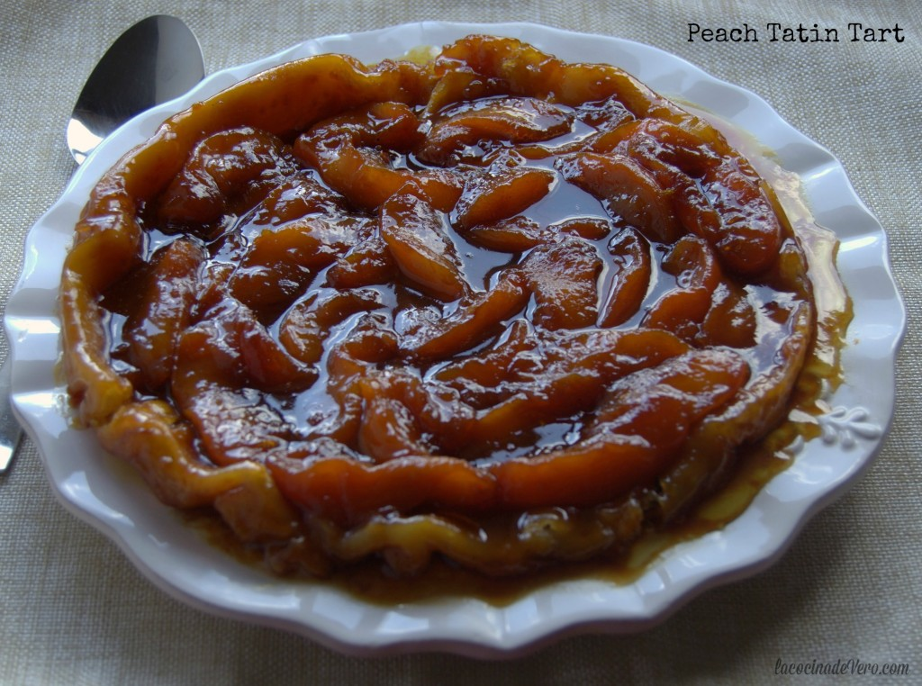Warm Tatin Tart to be served with vanilla ice-cream
