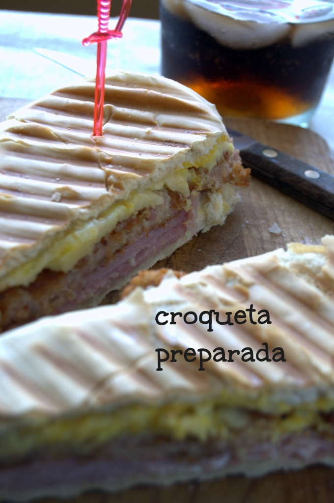 sandwich de croqueta preparada