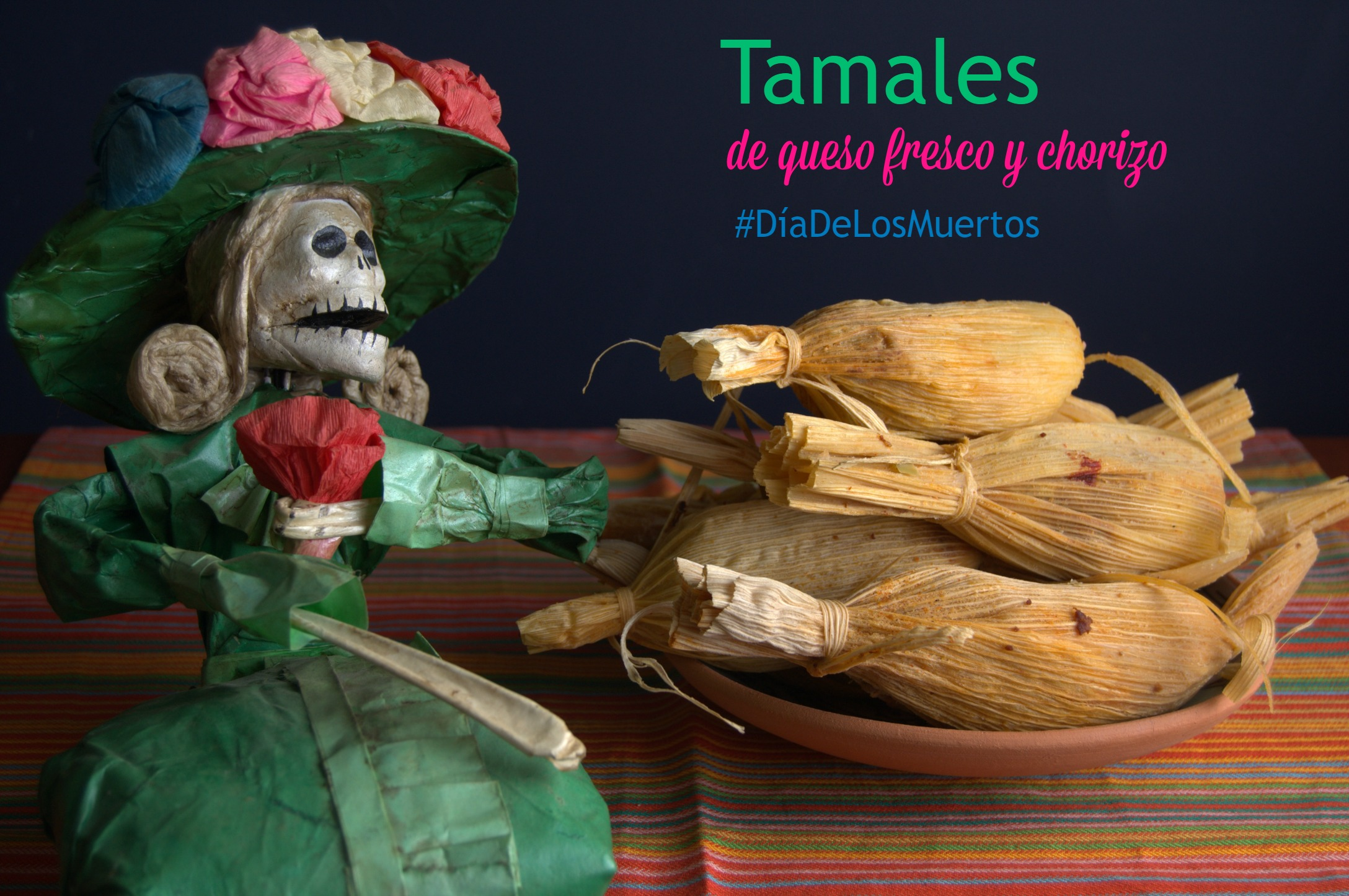 Tamales of fresh cheese and chorizo ​​-