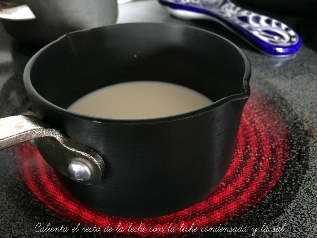 calentar la leche