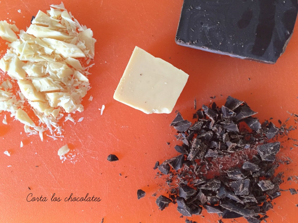 cortar chocolate