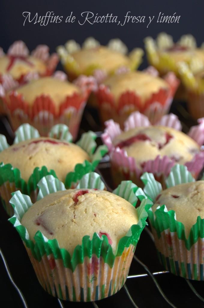 Muffins de Ricotta, fresa y limon