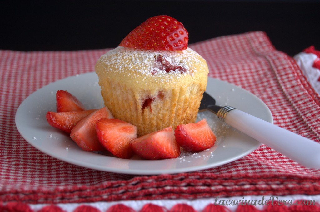 Muffins de ricotta fresa y limon