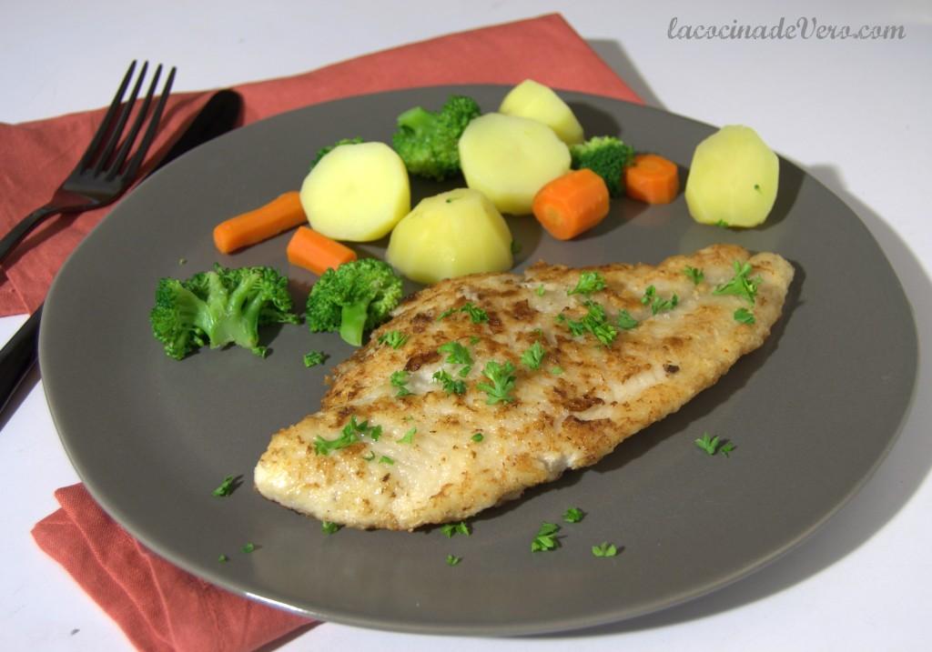 Pescado rebozado sin gluten, huevos ni lactosa