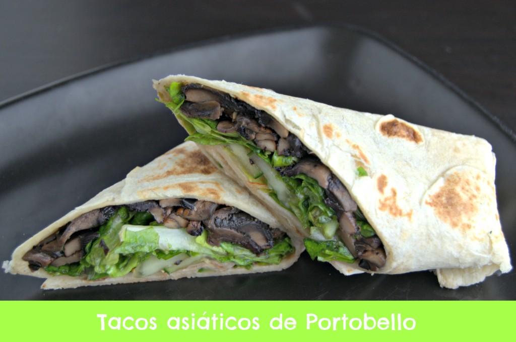 Tacos asiáticos con Portobello #comidaVegetariana