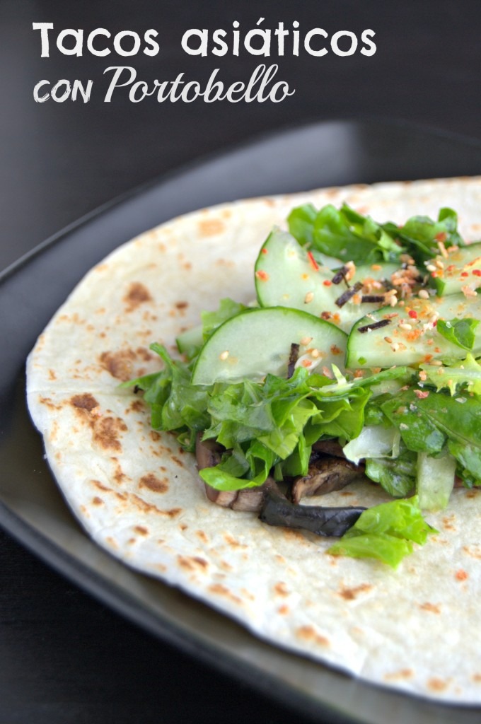 Tacos asiáticos con Portobello