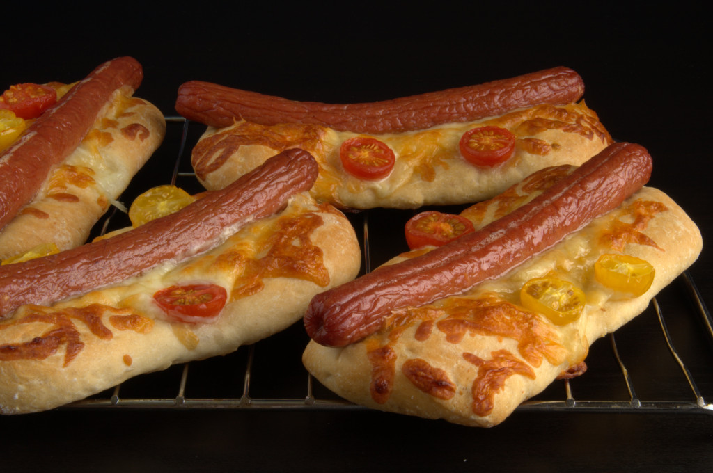 Pizzetas de hot dogs