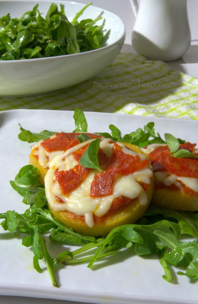 pizzas de polenta