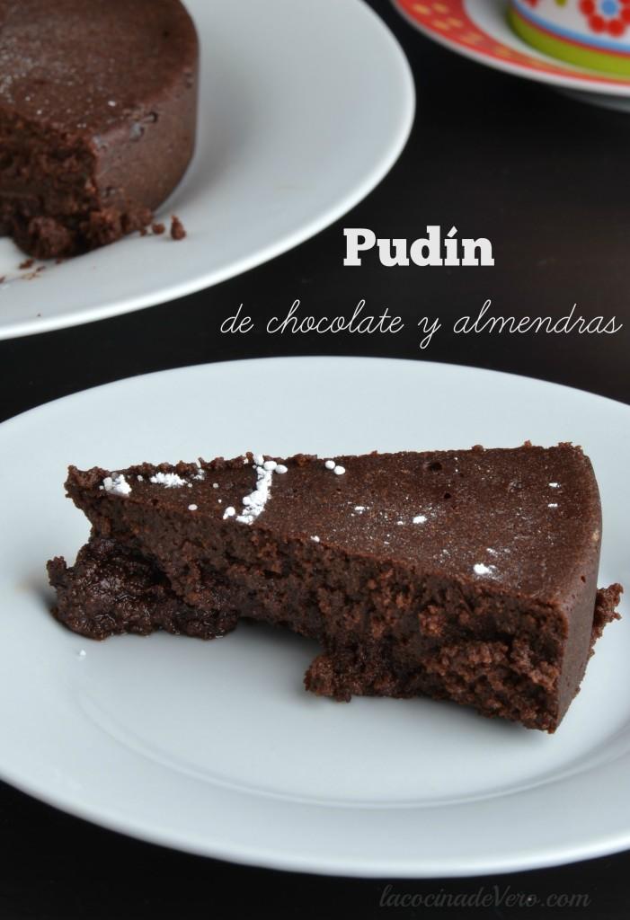 Pudin de chocolate y almendras