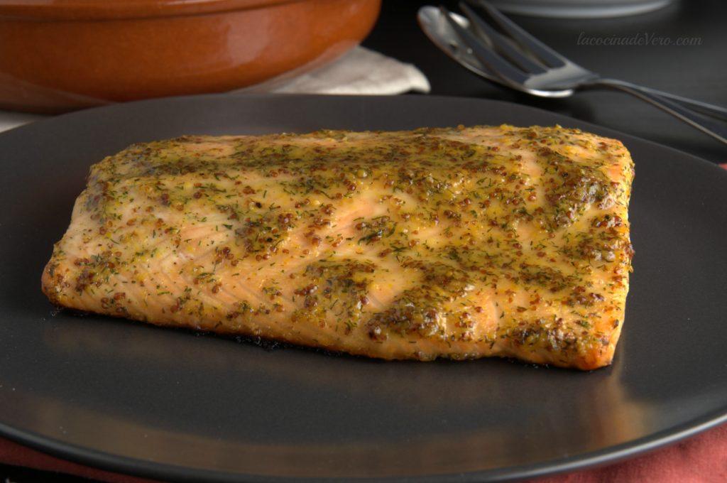 salmon-con-miel-mostaza-y-eneldo