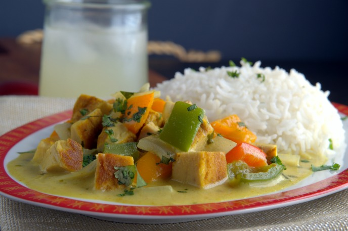 curry tailandes verde con pollo