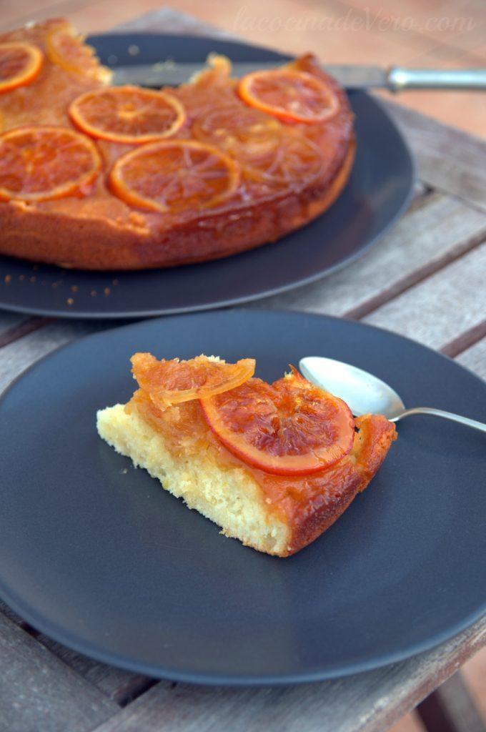 Upside down cake de naranja y limón