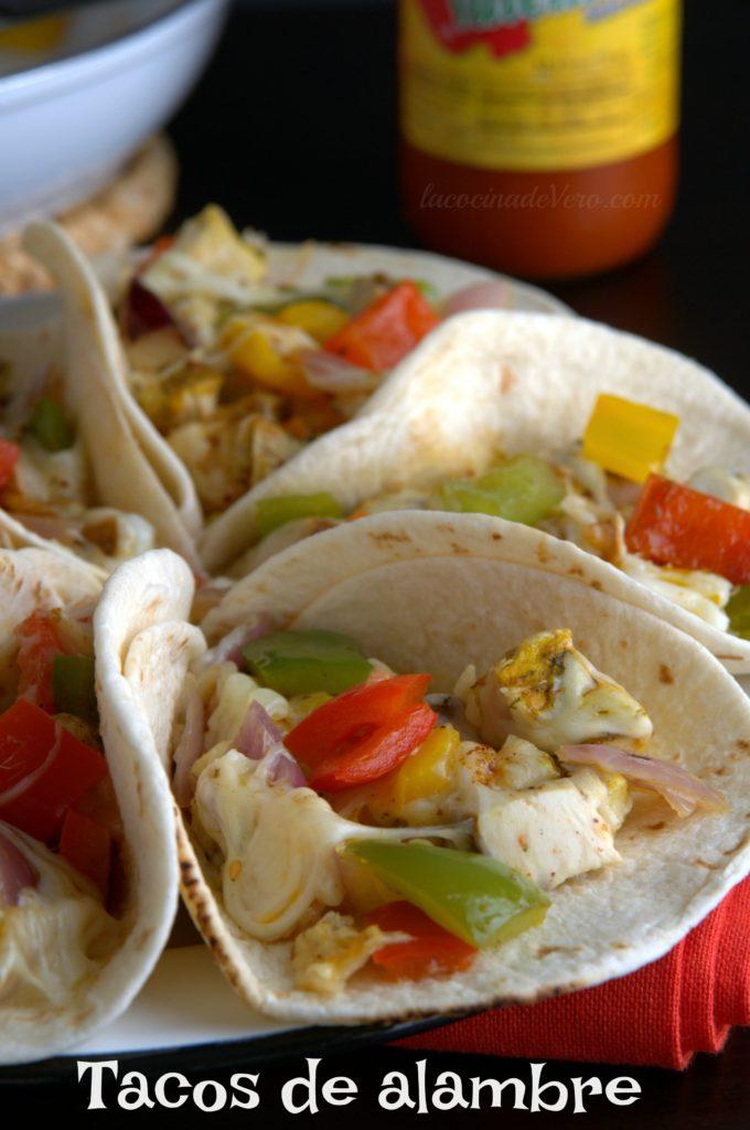 Tacos de alambre de pavo