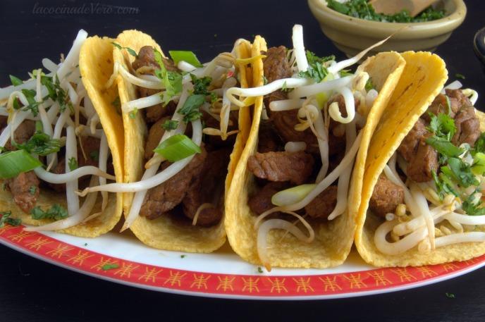 Tacos al estilo coreano